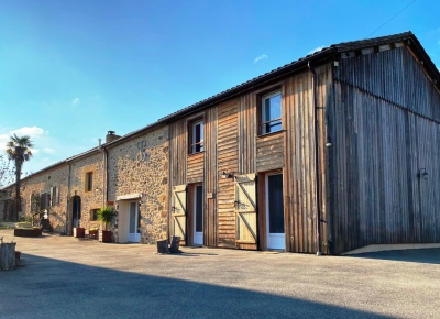 Restored farmhouse with chambres d'hotes, gite and garden