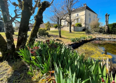 Restored 19th century maison de maitre with traditional outbuildings, swimming pool and garden